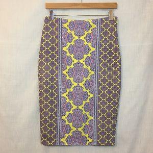 The Limited Pencil Skirt Paisley Mirror Print Sz 6